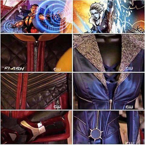 2 bộ quần áo được thiết kế cho Cisco (Vibe) và Caitlin Snow (Killer Frost)